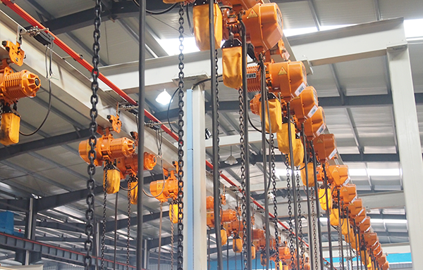 Working environment of electric hoists